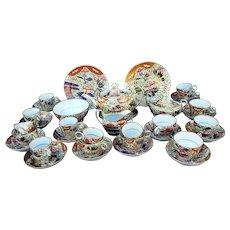 A 19th Century Chamberlain's of Worcester Imari Porcelain Tea/Coffee Set, Finger & Thumb Pattern