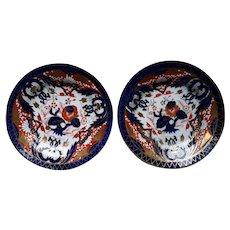A Pair of Coalport King's Pattern Plates