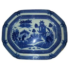 Staffordshire Transfer Printed Boy and Buffalo Pattern Platter