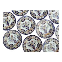 "Twelve Mason's Patent Ironstone China  6 3/4"" Plates"