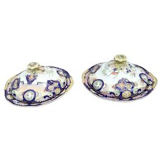 A Pair of  Mason's Patent Ironstone China Vegetable Dishes and Lids