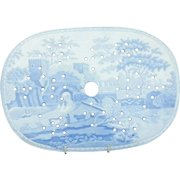 A Spode  Castle Pattern Transfer Printed Drainer