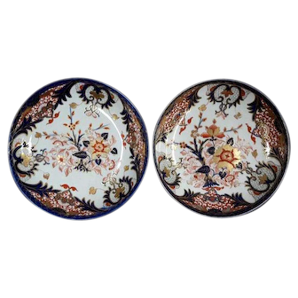 A Pair of Derby Shallow Bowls King's Pattern