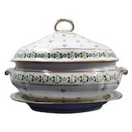 A Large Derby Soup Tureen and Stand