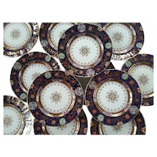 Ashworth's Ironstone Japan Patterned Set of Twelve Dinner Plates