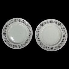Two Creamware Plates, Late 18th Century English