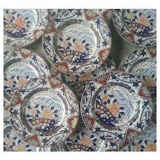 Twelve Ashworth's Ironstone Japan Fence pattern Soup Bowls
