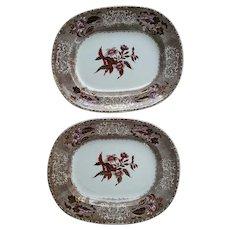 Pair of Copeland & Garrett Late Spode Camilla Pattern Platters