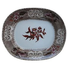 A Copeland Camilla Pattern Clobbered Transfer Printed Platter