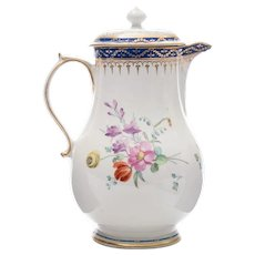 A Derby Baluster Jug and Cover Late 18th Century