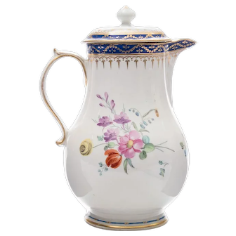 A Derby Baluster Jug and Cover