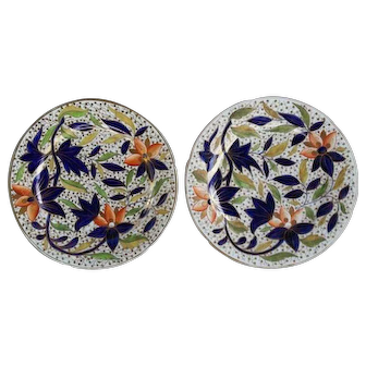 Pair Coalport Painted and Gilded Plates