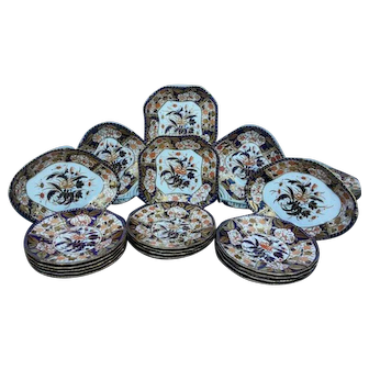 Royal Crown Derby Dessert Service Three Birds Pattern