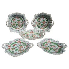 Set of Hick and Meigh Ironstone Dessert Dishes