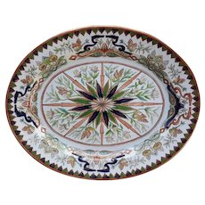 Ashworth's Ironstone Oval Platter, Butterfly and Dragon Pattern