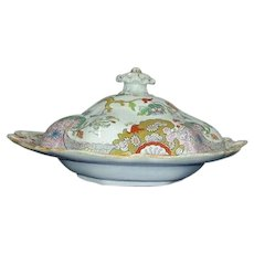 Mason's Ironstone Prunus Bush pattern Vegetable Dish and Cover