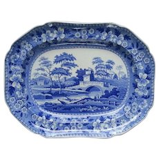 A Spode Transfer Printed Tower Pattern Platter