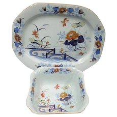 A Wedgwood Stone China Platter and Bread Bowl