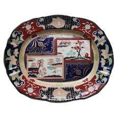 An Ashworth's Ironstone China Platter Double Landscape Pattern