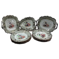 An Ashworth's Ironstone Part Dessert Service