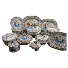An Early Masons Ironstone Part Dinner Service