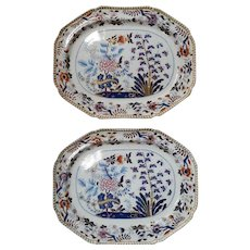 A Pair of Large Spode Newstone Platters