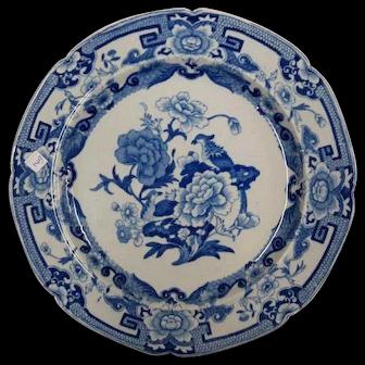 Three Mason's Ironstone Plates Blue Pheasant Pattern