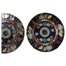 A Pair of Early Mason's Ironstone Plates