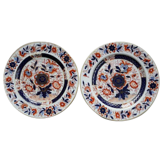 Pair of Ashworth's Ironstone Plates