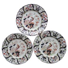 Set of Three Mason's Ironstone Plates Pheasant Pattern