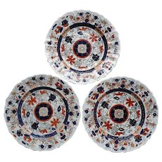 Set of Three Mason's Patent Ironstone Plates