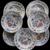 Seven Davenport Flying Bird Pattern Bowls.