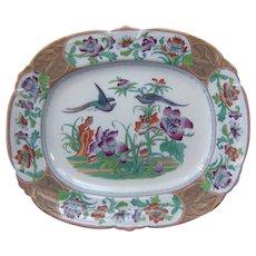 An English Ironstone Flowered Patterned Platter