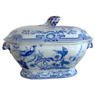 An Ironstone Soup Tureen and Lid by Hicks, Meigh and Johnson
