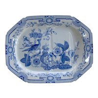 An Ironstone Tree and Well Platter by Hicks, Meigh and Johnson