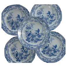 Five Hicks, Meigh and Johnson Ironstone Dinner Plates