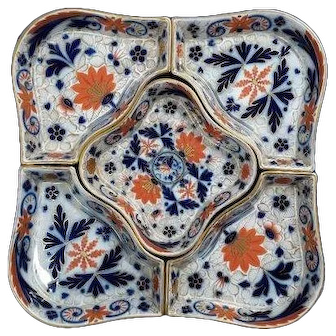 A Five Piece Ironstone Hors D'oeuvres Set