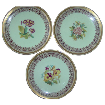 Three William Ridgway Botanical Plates