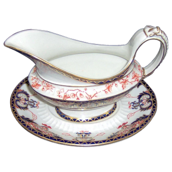 Royal Crown Derby Sauce Boat and Stand