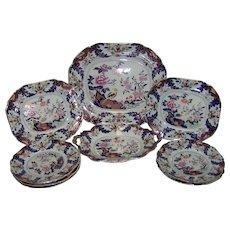 A John Ridgway & Co. Imperial Stone China Part Dessert Set