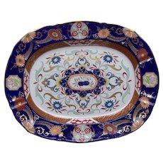 An Ashworth's Ironstone-China Platter Imari Pattern