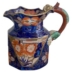 A Mason's Ironstone China Schoolhouse Pattern Jug