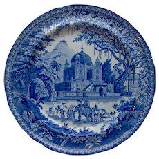 "A Transfer Printed Plate ""Mausoleum of Sultan Purveiz near Allahabad"""