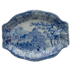 Blue and White Transfer Printed Dish Chalees Satoon
