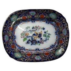 An Improved Ironstone China Large Platter by Charles Meigh