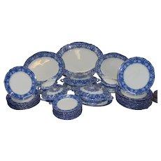 A Flow Blue Clarendon Pattern Part Dinner Service