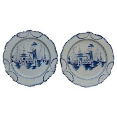 A Pair of Large Pearlware Chargers