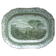 Copeland Garrett Late Spode Byron Views Platter, Bay of Naples