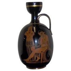 English 19th C Neoclassical Dark Brown Glazed Jug