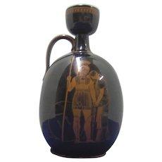 English 19th C Neoclassical Dark Brown Glazed Jug/Bottle